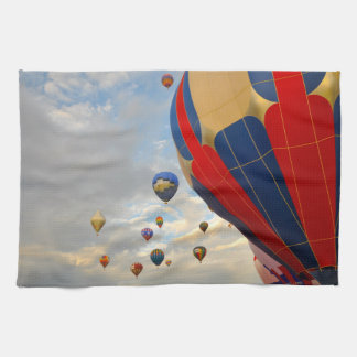 Hot Air Balloon Race in Reno Nevada Tea Towel