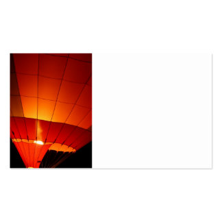 Hot Air Balloon Red Orange Ballooning Gifts Business Card Template