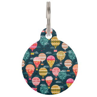 Hot Air Balloon Retro Vintage / Andrea Lauren Pet Name Tag