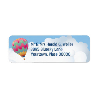 Hot Air Balloon Return Address Return Address Label