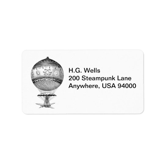 Hot Air Balloon Return Labels