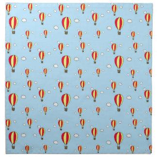 Hot air balloon ride cloth napkins