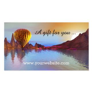 Hot Air Balloon Ride Gift Certificate Template Business Card