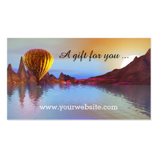 Hot Air Balloon Ride Gift Certificate Template Pack Of Standard Business Cards