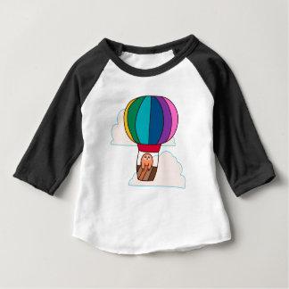 Hot Air Balloon Sloth Baby T-Shirt