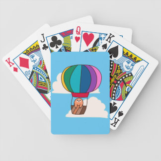 Hot Air Balloon Sloth Bicycle Playing Cards