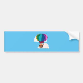 Hot Air Balloon Sloth Bumper Sticker