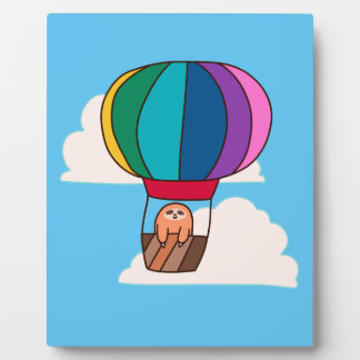 Hot Air Balloon Sloth Display Plaque