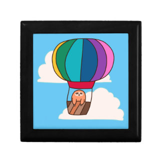 Hot Air Balloon Sloth Gift Box
