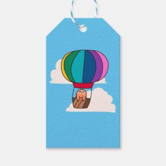 Hot Air Balloon Sloth Gift Tags