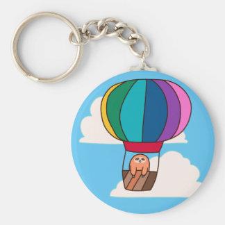 Hot Air Balloon Sloth Key Ring