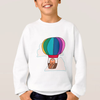 Hot Air Balloon Sloth Sweatshirt