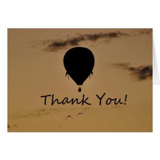 Hot Air Balloon Thank you Greeting Card