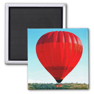 Hot air balloon to celebrate life square magnet