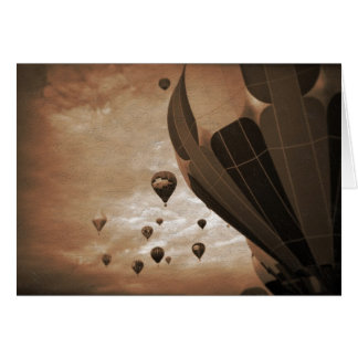Hot Air Balloon Vintage Photograph Card