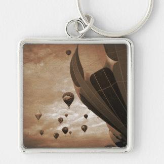 Hot Air Balloon Vintage Photograph Key Ring