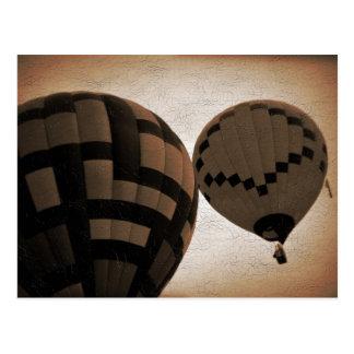 Hot Air Balloon Vintage Photograph Postcard