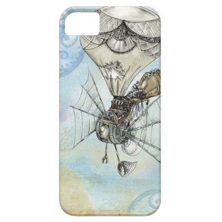 Hot Air Balloon Vintage Steampunk blue design iPhone 5 Case