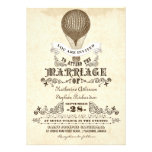 hot air balloon vintage wedding invitations