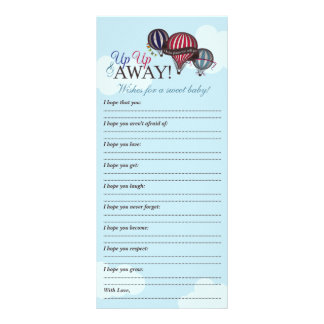 Hot air balloon - Wishes for baby memory note Rack Card Design
