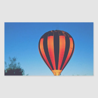 Hot air Ballooning in the outback Rectangular Sticker