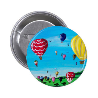 Hot Air Balloons 6 Cm Round Badge