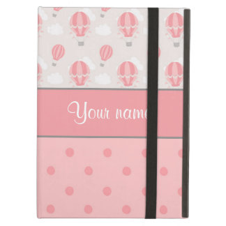 Hot Air Balloons and Polka Dots Personalized iPad Air Cover