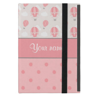 Hot Air Balloons and Polka Dots Personalized iPad Mini Case