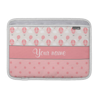 Hot Air Balloons and Polka Dots Personalized MacBook Sleeves