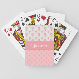 Hot Air Balloons and Polka Dots Personalized Playing Cards