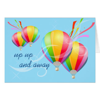 Hot Air Balloons Birthday Greetings Card
