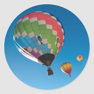 Hot air balloons classic round sticker