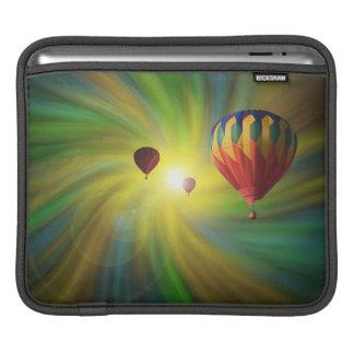Hot-Air Balloons in a Pastel Vortex iPad Sleeve