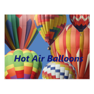 Hot Air Balloons In Bright Colors! Postcard