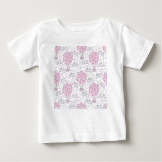 Hot air balloons in pink nursery art baby T-Shirt