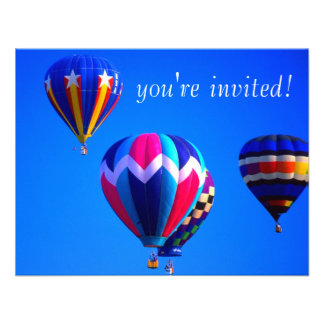 Hot Air Balloons Personalized Invites