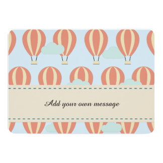 Hot Air Balloons Motifs Card