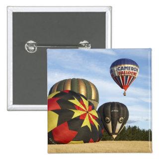 Hot Air Balloons near Wanaka, South Island, New 15 Cm Square Badge