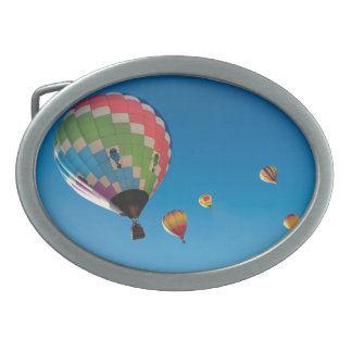 Hot Air Balloons Oval Belt Buckle