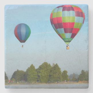 Hot air balloons over a lake,  NZ Stone Coaster