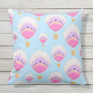 Hot Air Balloons, Pink Cushion
