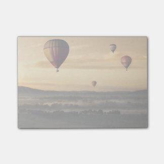 Hot air balloons post-it notes