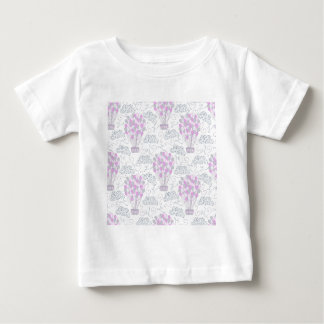 Hot air balloons purple pink nursery decor line baby T-Shirt