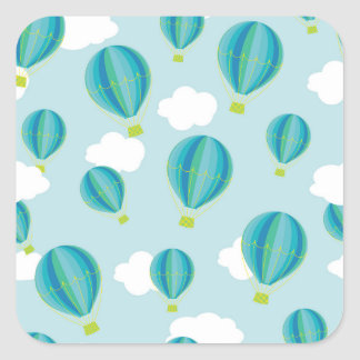 Hot air balloons square sticker