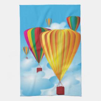 Hot air balloons tea towel