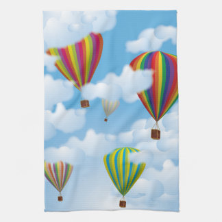 Hot Air Balloons Tea Towel