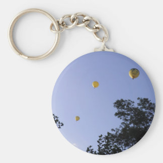 Hot Air Balloons Through The Trees Basic Round Button Key Ring