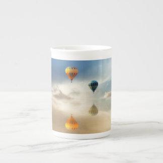 Hot Air Balloons Water Reflection Bone China Mug
