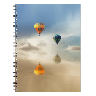 Hot Air Balloons Water Reflection Note Books