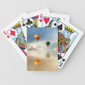 Hot Air Balloons Water Reflection Playing Cards
